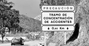 Tramo de accidentes en Ciudad Real