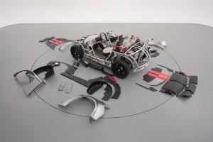 Piezas para el montaje del vehículo